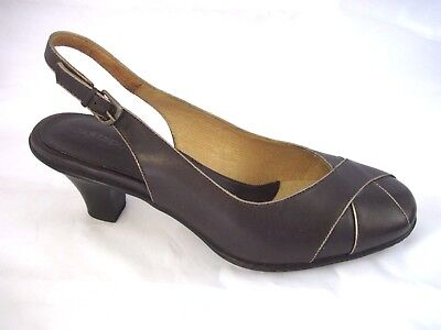 Softspots 11WW Extra Wide brown Monarch Sling womens ladies heels shoes 724900 (Extra Wide Ladies Shoes)