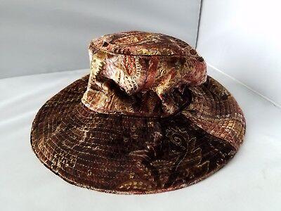 Weiche Eimer Hut (Georgi Damen Hut Braun Velour Paisleymuster Weich Eimer Hut Kleid Freizeit)