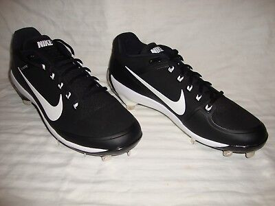 b28bfda0c80d1 Nike 880261-010 Men s Air Clipper 17 Flywire Metal Low Baseball Cleats Size  10
