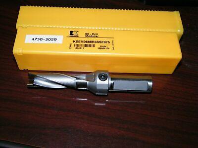 Kennametal Ksem0688r3ssf075 Modular Drill .688 Ksem Flange Body Se 1505111 .6875