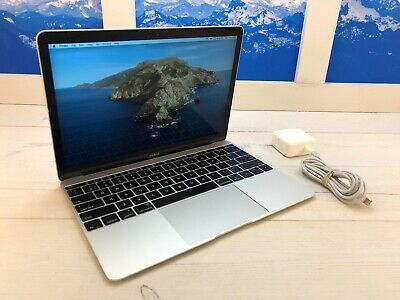 "Apple MacBook Retina 2016 12"" Laptop 256GB SSD 1.1GHz 8GB RAM A1534 Silver"