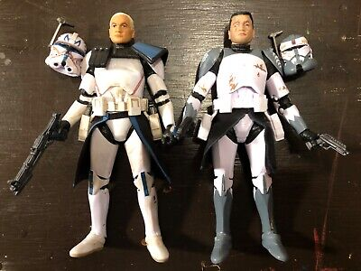 Star Wars Black Series 6 Inch Clone Commander Wolffe and Captain Rex