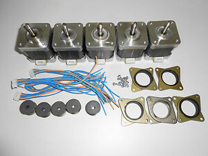 5-x-Stepper-motor-NEMA-17-76-oz-in-CNC-MILL-ROBOT-REPRAP-MAKERBOT-GT2-2mm-P4V