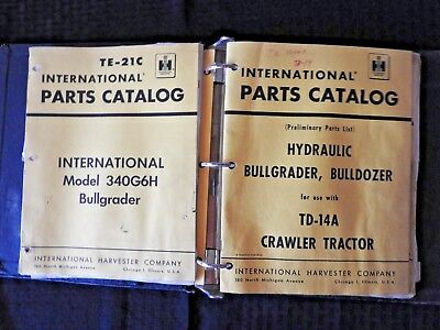 International Harvester Td 6 9 14 15 Crawler Tractor Attachments Parts Manual