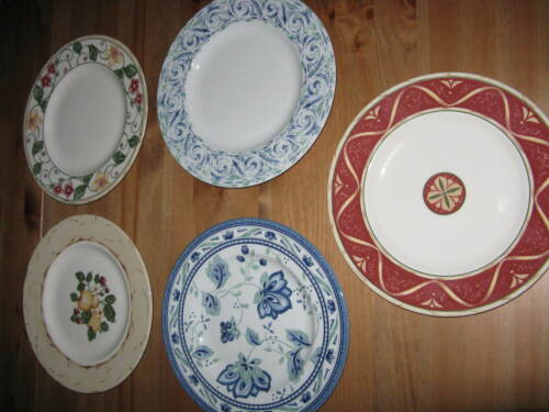 """5 Wedgwood Home Amway 9"""" Luncheon Plates Different Designs"""