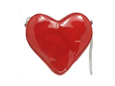 Herzförmiger Tasche (Loni Herzförmig Valentine Lack Clutch Schulter Umhängetasche)