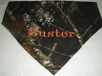 Dog Bandana, Personalized, hunting dog, Camo Mossy Oak Over the Collar, gift