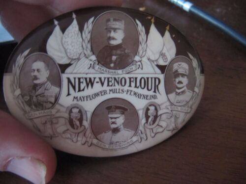 early 1900s New-veno Flour mayfield mills advertising mirror