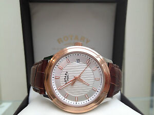 Genuine Rotary Men's Swiss Watch Rose Gold plated Limited Edition NEW RRP £170