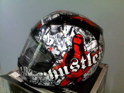 Motorcycle Helmet Limited Edition Rockhard Hustler Salamander Bay Port Stephens Area Preview