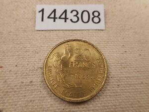 1953 B France 20 Francs - Very Nice Collector Grade Raw Album Coin - # 144308