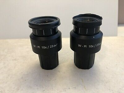 Zeiss Microscope Ocular Set W- Pl10x23 And A Crosshair Reticule