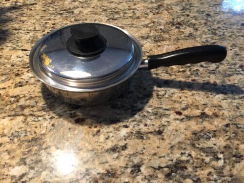 """VITA CRAFT 5201 8"""" 1-Qt Saucepan Fry Pan Pot 5 Ply Nicromium Steel - USA"""