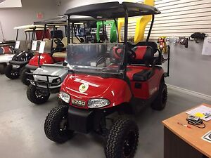 2013 EZGO RXV 48v Golf Cart Black/Red Edit.