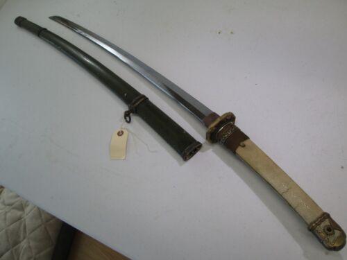 WW2 JAPANESE HIGH QUALITY OFFICERS SWORD W SCABBARD GENDAITO KANEYOSH #J28