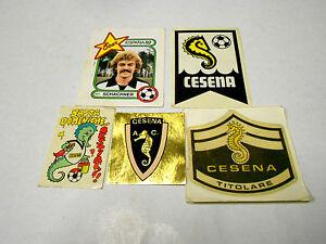 FIGURINE-panini-CESENA-calcio-lotto-di-5-scudetti