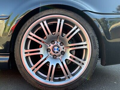 """X4 BMW E46 M3 19"""" Alloy Wheels OEM Staggered Genuine with Tyres"""