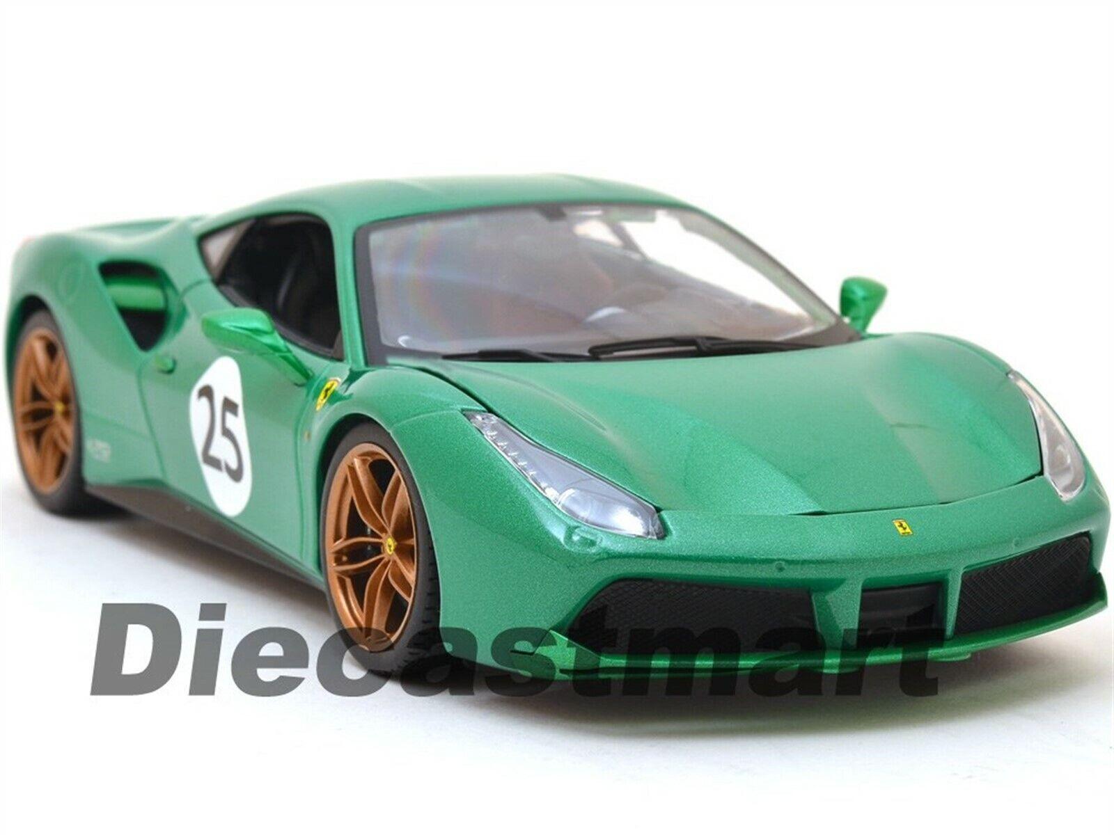 1:18 Ferrari 488 GTB The Green Jewel 70th Anniversary Limited Edition Burago