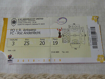 Ticket : Royal Antwerp - RSC Anderlecht 2018/2019 PO1