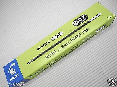 Blackx12 Pilot Rfj-gp-fine Ballpoint Pen Only Refills For Bps 0.7mm Ball Pen
