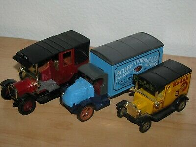 Lot of 3 Matchbox Models of Yesteryear: Mack Truck, Unic Taxi, Ford Model T