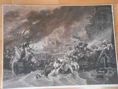 Seeschlacht von BARFLEUR und LA HOUGUE 1692 Georg Döbler Benjamin West London