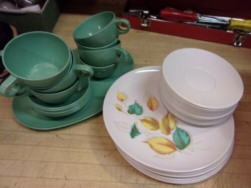 Vintage Melamine Stetson 37 Pc Settings Dinnerware - nice