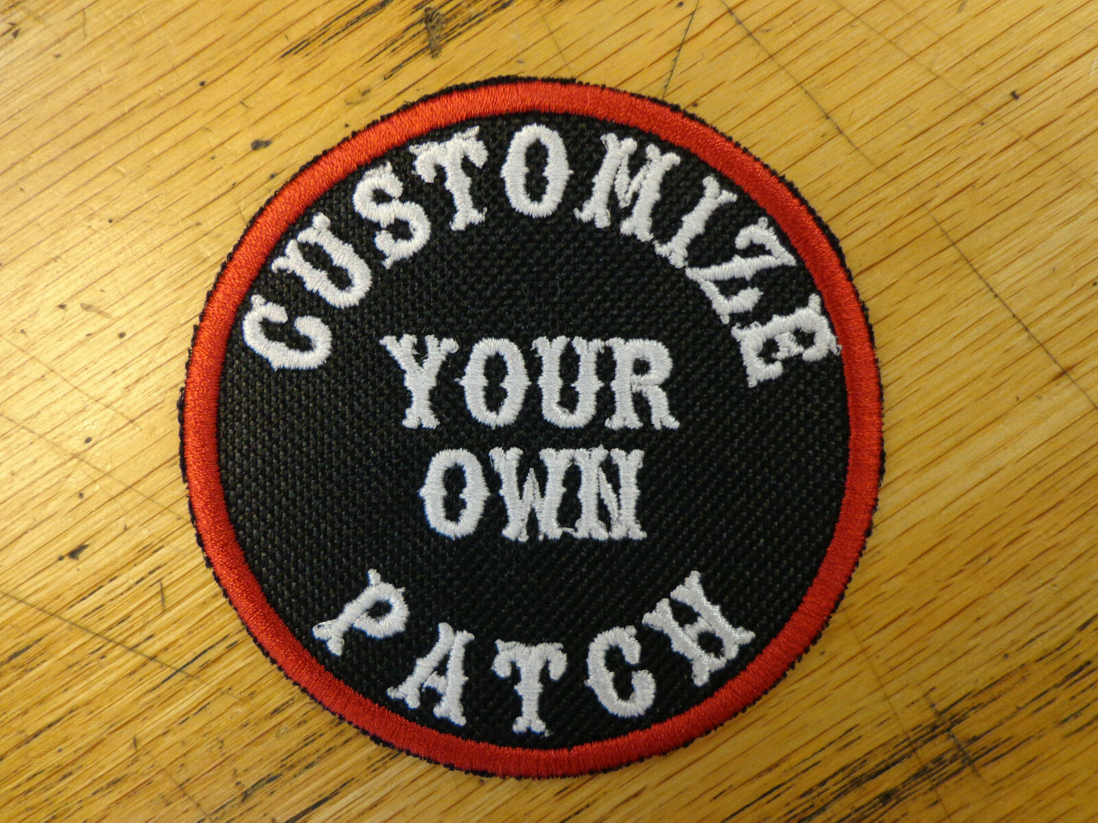 CUSTOM EMBROIDERED ROUND PATCH 3 INCH NAME SAYING MADE IN USA