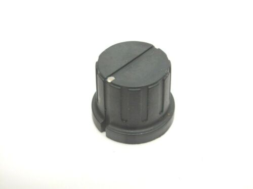 Replacement Round Black & Silver Knob With Set Screw - Great For Projects!