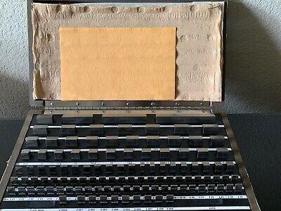 Starett Webber Gage Div. Rs112ma Grade 2 Steel Precision Gage Blocks