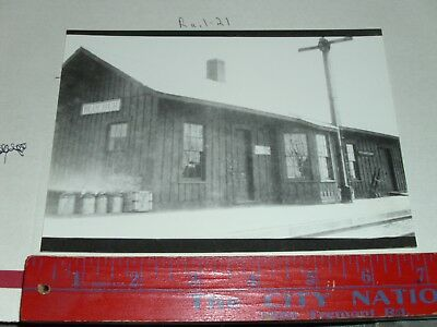 Train RR Wells fargo express Co Blocher Station depot yard freight load dock bay