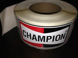 Roll of 100+ Champion labels