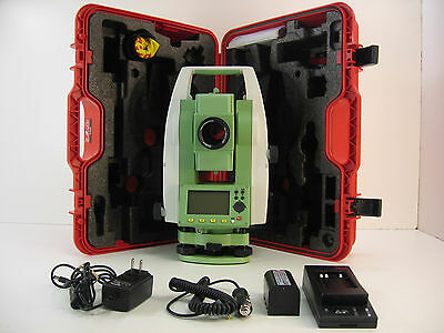 Leica Ts02 Power 5 R400 Total Station For Surveying One Month Warranty