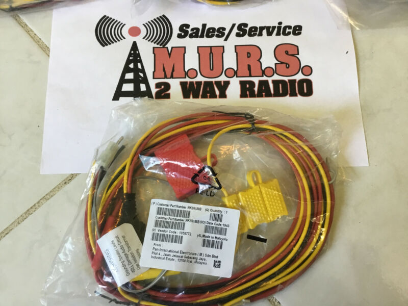 Motorola Control Head Power & Speaker Cable HKN6188B 05 07 09 XTL and APX Series