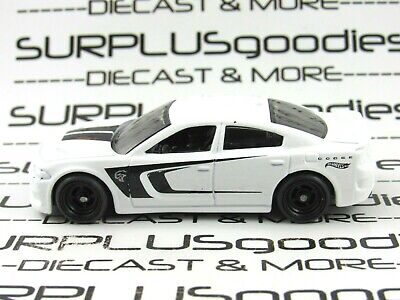 Hot Wheels 1:64 LOOSE White 2015 DODGE CHARGER SRT Custom SUPER w/Real Riders
