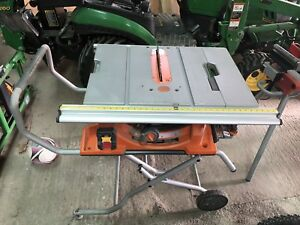 "Ridgid 10"" Table Saw with Folding Stand"
