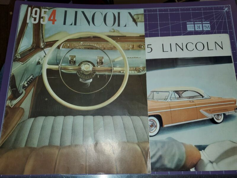 1954 and 1955 Lincoln brochure lot