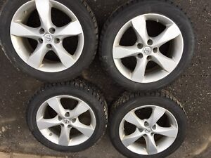 """2 sets of 17"""" tires with 4 rims"""