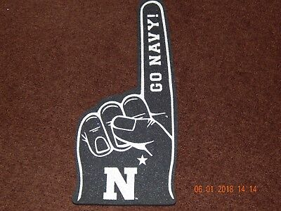 Usn United States Navy Nfcu Navy Federal Credit Union Foam Sports Finger Blue