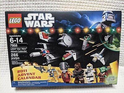 Star Wars Lego 7958 2011 Advent Calendar NIB Exclusive Yoda Chewbacca (a6)