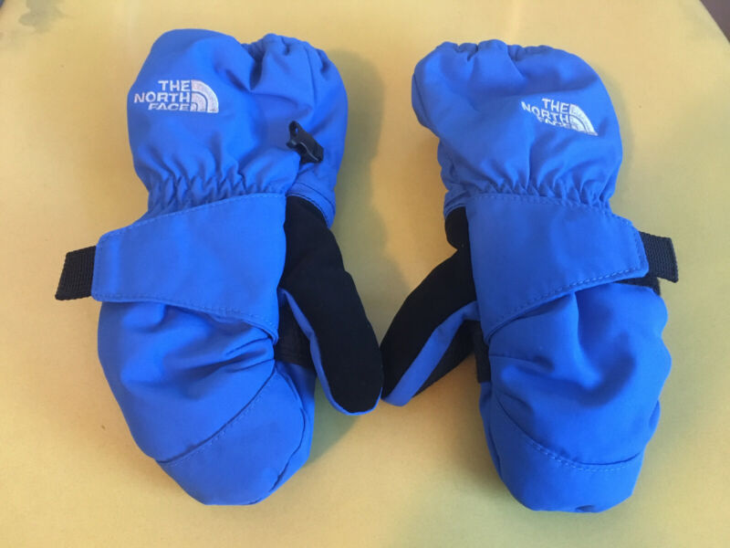 The North Face Kids Toddler 3T/3B Mittens Blue Winter Snow Very Nice Boys