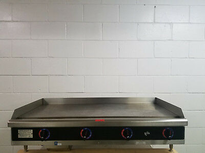 Star 548-tag Electric 48 Inch Flat Grill Griddle 208240v 3 Phase Tested