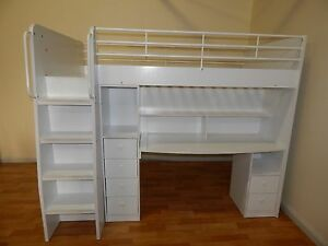 King single loft bed white SYDNEY DELIVERY & ASEMBLY AVAILABLE Windsor Hawkesbury Area Preview