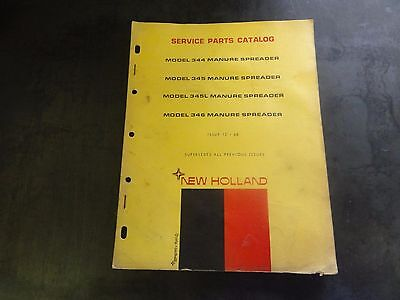 New Holland 344 345 345l 346 Manure Spreader Service Parts Catalog 12-68