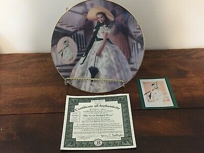 Gone With The Wind Scarlett In Green Sprigged Dress Plate