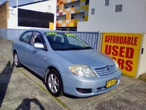 2005 Toyota Corolla Sedan 1 Year Warranty Woy Woy Gosford Area Preview