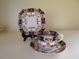 Antique St Michael China Cup Saucer & Side Plate Trio ~ Pattern No 2586 (L64,45)