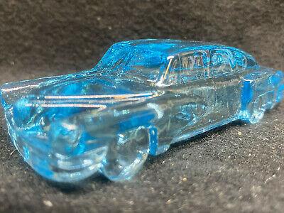 Aqua Blue Vaseline uranium glass 1948 Tucker Torpedo sports sedan car / selenium