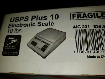 Usps Plus 10 Electronic Postal Commerce Scale Battery Powered Ac Adapter 10lb