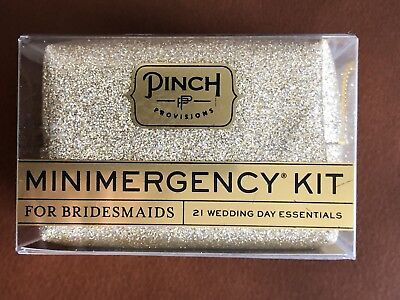 Gold Glitter Minimergency (emergency) Kit For Bridesmaids By Pinch Provisions - Minimergency Kit For Bridesmaids